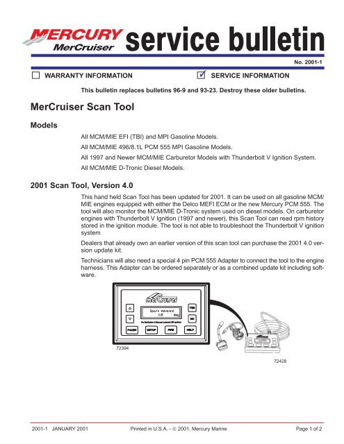MerCruiser Scan Tool - BoatFix com