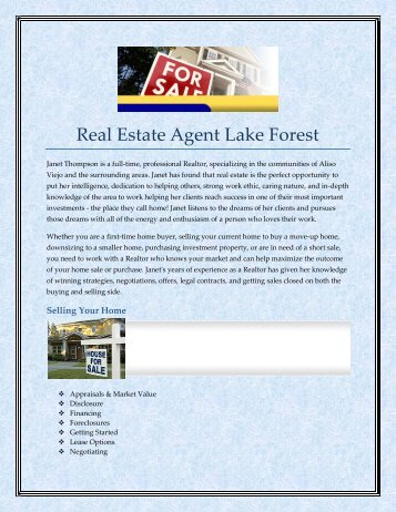 Real Estate Agent Lake Forest