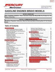 GASOLINE ENGINES BRAVO MODELS - BoatFix.com