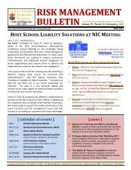 risk management bulletin - Favor & Company Insurance Brokers