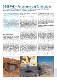 DESERVE – Forschung am Toten Meer