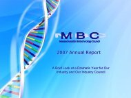 2007 Annual Report - Massachusetts Biotechnology Council