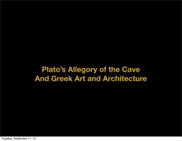 Detour through Plato's Cave