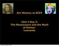 Art History at ECFS Unit 4 Day 3