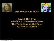 Art History at ECFS Unit 2 Day 5-6
