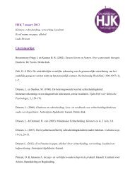 HJK 7 maart 2013 Literatuurlijst