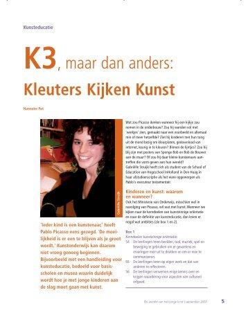 K3, maar dan anders: Kleuters Kijken Kunst - hjk