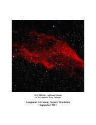 sept 2011 news - Longmont Astronomical Society