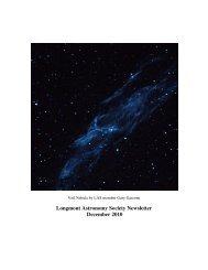 Dec 2010 newsletter - Longmont Astronomical Society
