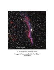 jan 2012 news - Longmont Astronomical Society