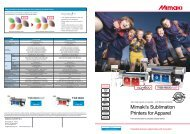 Mimaki's Sublimation Printers for apparel