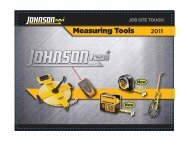 Measuring Tools 2011 - Johnson Level