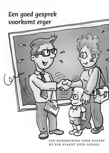 Een goed gesprek voorkomt erger - Ouders en Rugzak