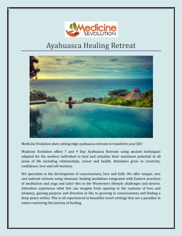 Ayahuasca Healing Retreat