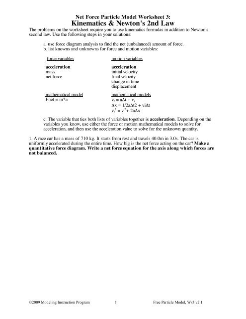 Worksheet 3 - Modeling Physics