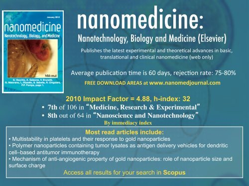 Nanotechnology, Biology and Medicine (Elsevier)