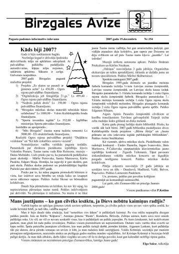 Decembris - Birzgales pagasts