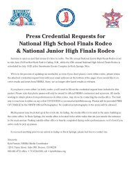 NJHFR Media Credential Request Form - National High School ...