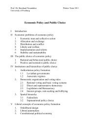 Economic Policy and Public Choice