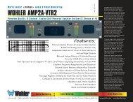 WOHLER AMP2A-VTR2