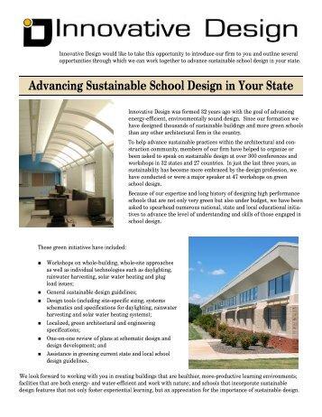 Statewide School Improvement - Innovative Design