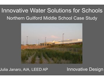 Innovative Water Solutions for Schools - Innovative Design