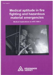 Medical aptitude in fire fighting and hazardous material emergencies