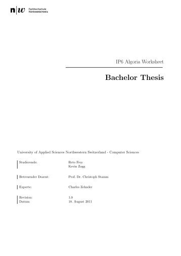 anmeldung thesis fh kiel