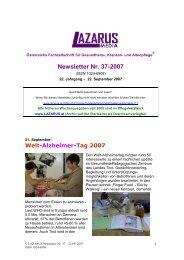 den Newsletter Lazarus Nr.37 - Nurse-Communication