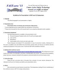 Guidelines for Presentation - FAST-zero '13