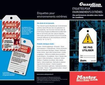 Etiquettes pour environnements extrêmes - Master Lock Safety