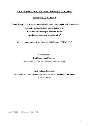 Protocollo di studio - Sigot.org