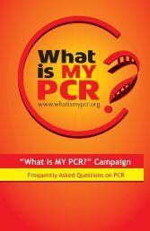 Download the FAQ PDF (English) - What is my PCR?
