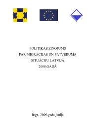 Politikas ziņojums par migrācijas un patvēruma situāciju Latvijā