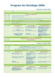 Program for Kortdage 2006 - GeoForum Danmark