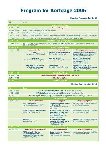 Program for Kortdage 2006 - GeoForum Danmark