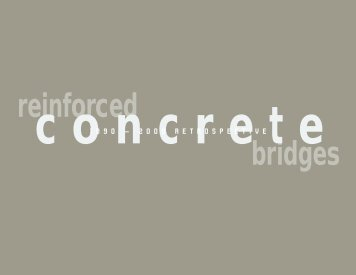 Reinforced Concrete Bridges - Convey