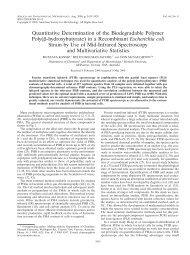 Quantitative Determination of the Biodegradable Polymer ... - Camo