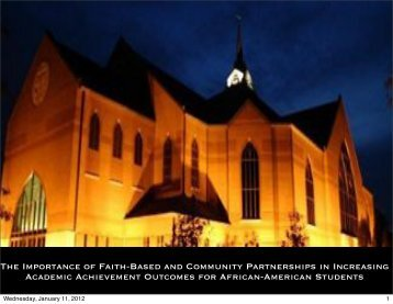 The Importance of Faith-Based and Community Partnerships in ...