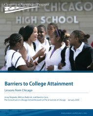 Barriers to College Attainment - Ensuring Access and Equity
