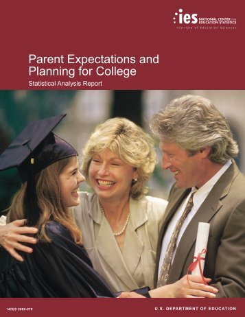 Parent Expectations and Planning for College by Laura Lippman ...