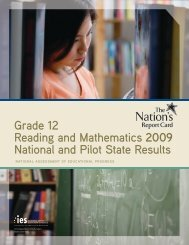 The Nation's Report Card: Grade 12 Reading and Mathematics ...