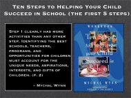 Ten Steps to Helping Your Child Succeed in School - Ensuring ...