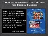 Increasing Grades, Test Scores, and School Success - Ensuring ...