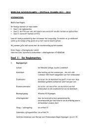 regeling schoolexamen + centraal examen 2001 ... - Mondial College