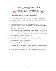 CHI GAMMA GAMMA FOUNDATION, INC. SCHOLARSHIP AWARD ...