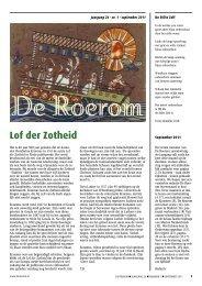 nr. 1 september 2011 - De Roerom