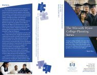 The Win with Wynn College-Planning Series - Ensuring Access and ...