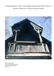 Wooden Heritage of Vilnius - Academia Istropolitana Nova