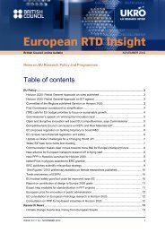 Table of contents - UK Research Office